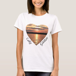 Lake Gaston Sunset Heart With Lake Gaston Text T-Shirt