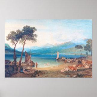 Lake Geneva and Mount Blanc Joseph Mallord William Poster