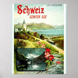 Lake Geneva Switzerland Poster
