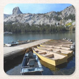 Lake George- Mammoth Lakes, CA Square Paper Coaster