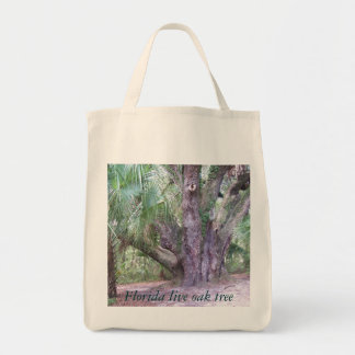 Lake Griffin Live Oak Tree Grocery Tote Grocery Tote Bag
