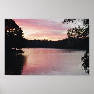 Lake Hartwell Sunrise Poster