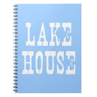 Lake House Blue Spiral Notebook