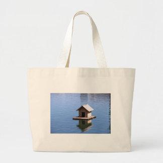 Lake house large tote bag
