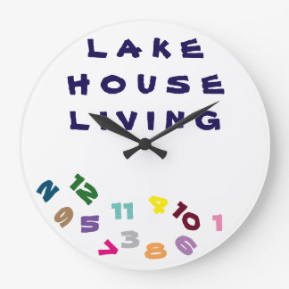 "****LAKE HOUSE LIVING***"" FUN WITH THIS COOL CLOCK"