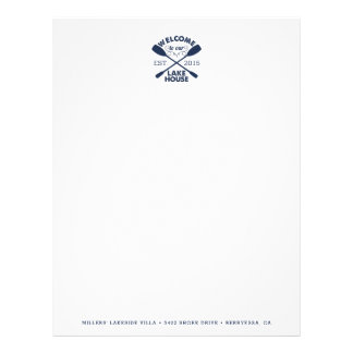 Lake House Vacation Rental Letterhead