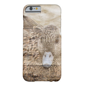 Lake House woodgrain pond wild duck Barely There iPhone 6 Case