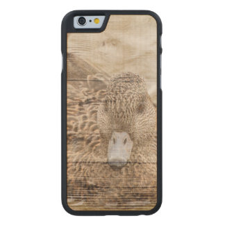Lake House woodgrain pond wild duck Carved Maple iPhone 6 Case