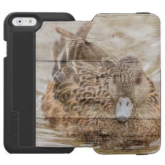 Lake House woodgrain pond wild duck Incipio Watson™ iPhone 6 Wallet Case