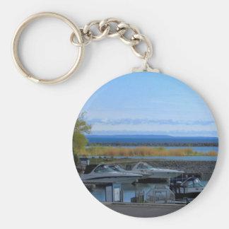 Lake Huron Collingwood Ontario Basic Round Button Keychain