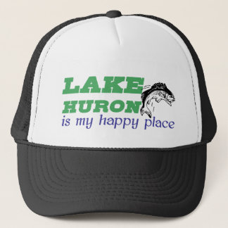 Lake Huron is my happy place Trucker Hat