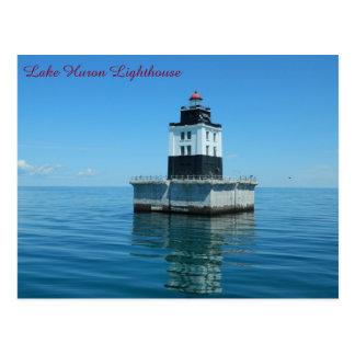 Lake Huron Lighthouse - Poe Reef Postcard
