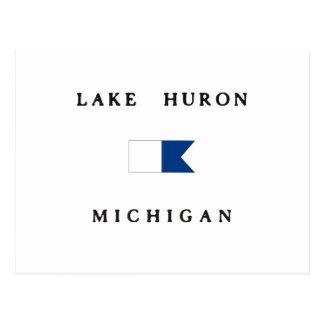 Lake Huron Michigan Alpha Dive Flag Postcard