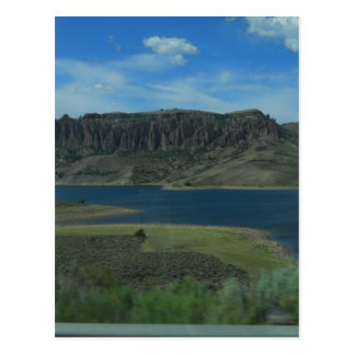lake in colorado postcard