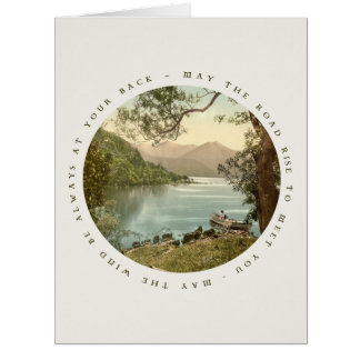 Lake in Kerry Ireland with Irish Blessing Card