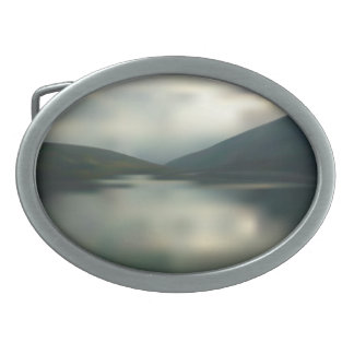 Lake in the mountains belt buckles