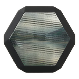 Lake in the mountains black bluetooth speaker