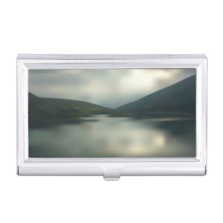 Lake in the mountains business card holder