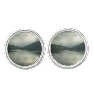 Lake in the mountains cufflinks