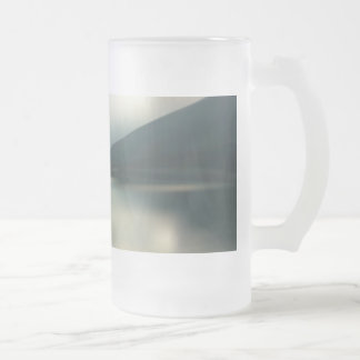 Lake in the mountains frosted glass beer mug