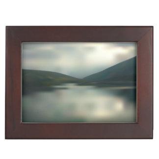 Lake in the mountains keepsake box