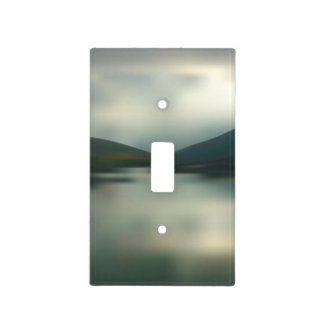 Lake in the mountains light switch cover