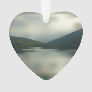 Lake in the mountains ornament