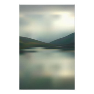 Lake in the mountains stationery