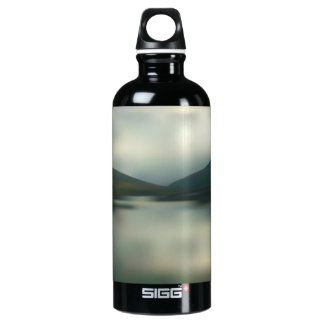 Lake in the mountains water bottle