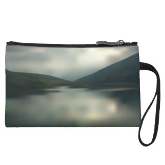 Lake in the mountains wristlet
