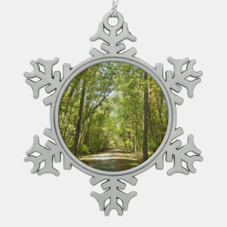 Lake Kittamaquandi Trail in Columbia Maryland Snowflake Pewter Christmas Ornament