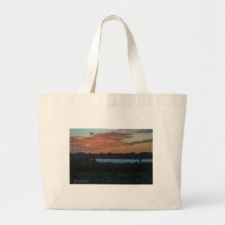 Lake Large Tote Bag