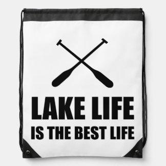 Lake Life Best Life Drawstring Bag