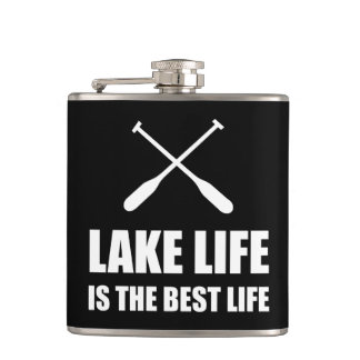 Lake Life Best Life Hip Flask