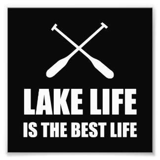 Lake Life Best Life Photo Print