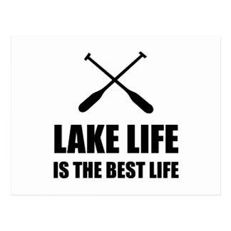 Lake Life Best Life Postcard