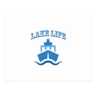 Lake Life Boat Funny Sailing Gif Men Women Postcard
