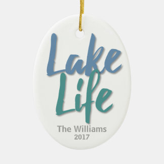Lake Life Ceramic Ornament