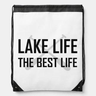 Lake Life The Best Life Drawstring Bag