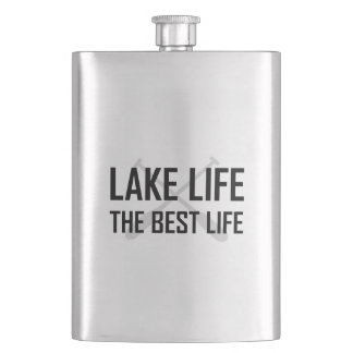 Lake Life The Best Life Hip Flask