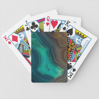 Lake Like Teal & Brown Agate Bicycle Playing Cards