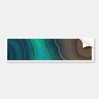 Lake Like Teal & Brown Agate Bumper Sticker