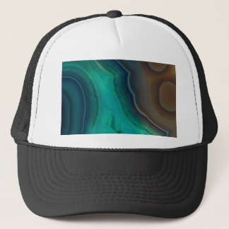 Lake Like Teal & Brown Agate Trucker Hat
