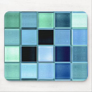 Lake Living AquaMarine Glass Tile Mosaic Mousepad