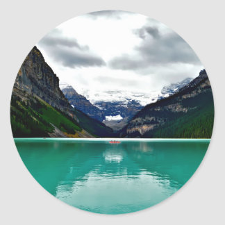 lake-louise-1747328 classic round sticker