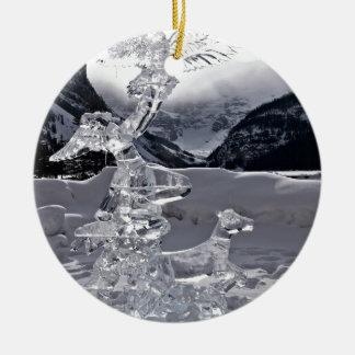 lake-louise-51 round ceramic ornament
