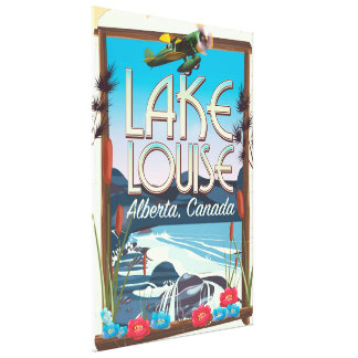 Lake Louise, Alberta Canada travel poster Canvas Print