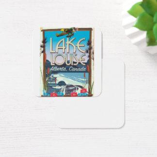 Lake Louise, Alberta Canada travel poster Square Business Card