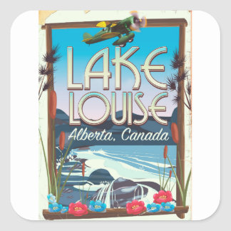 Lake Louise, Alberta Canada travel poster Square Sticker