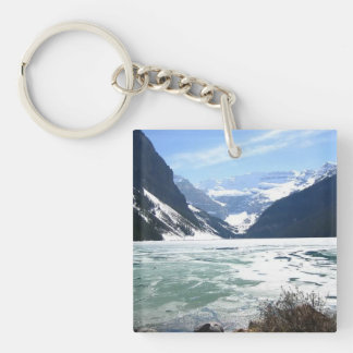 Lake Louise, Banff, Alberta, Canada Double-Sided Square Acrylic Keychain
